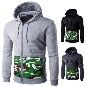 Hats Autumn Men Slim Patchwork Camouflage Men's Fashion Jacket [10669398467]