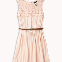 Ruffled Lace Trim Dress
