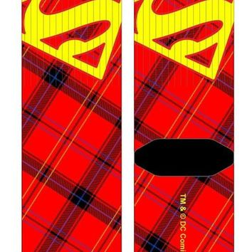 Superman Plaid Crew Socks