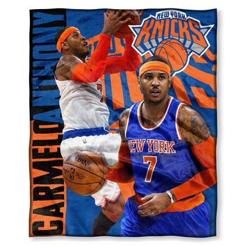 New York Knicks NBA Carmelo Anthony Silk Touch Throw (50in x 60in)