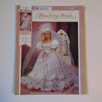 Blushing Bride, Fibre Craft Doll Clothes Crochet Pattern Booklet FCM485