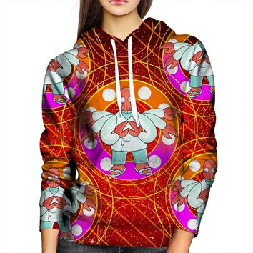 Psychedelic Zoidberg Womens Hoodie