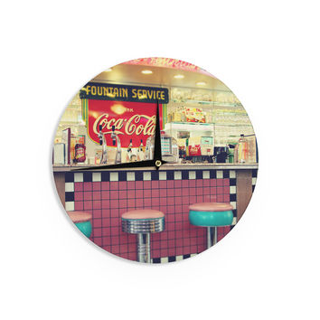 "Sylvia Cook ""Retro Diner"" Coca Cola Wall Clock"
