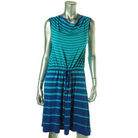 Spense Womens Petites Jersey Sleeveless Casual Dress