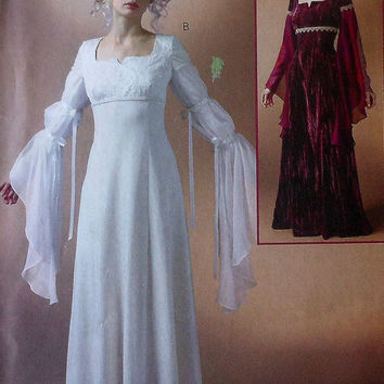Renaissance Gown Sewing Pattern UNCUT McCalls MP362 Sizes 6-12 costume wedding