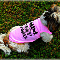 Small Dog Clothing. Mini Pooper Dog Tank Top. Pet Apparel. Pet Lover Gift. Puppy Clothes. Dog Outfit.