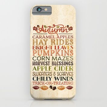 Autumn Fun iPhone & iPod Case by Noonday Design