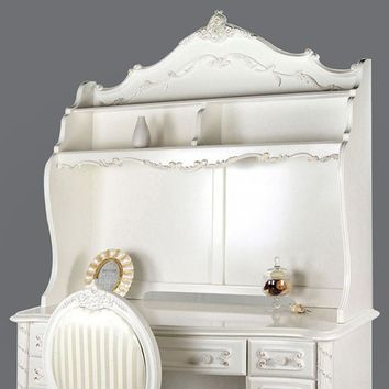 Alexandra Fairy Tale Style Hutch , Pearl White