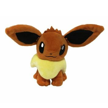 Hot Anime Character Eevee Plush Toys 15cm Kawaii Eevee Genius Soft Stuffed Animals Doll for Kids Toys Children Birthday Gift