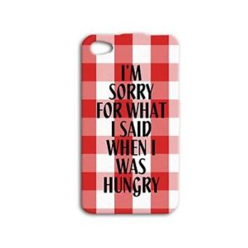 Red White Checkered Cute Funny Quote Cute Phone Case iPhone