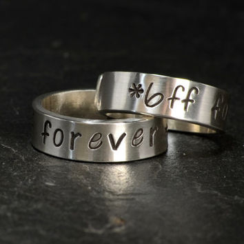 Best Friends Forever Toe Ring Set in Sterling Silver
