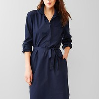 Belted Popover Shirtdress