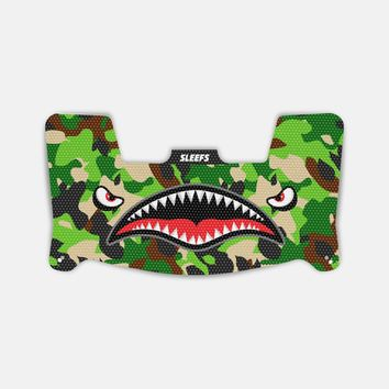War Shark II Jungle Camo Visor Skin