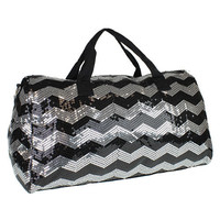 Sale 20% OFF! Darling Sequin Chevron Duffle Bags with name on Strap!