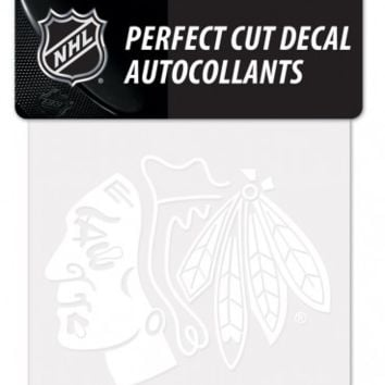 Chicago Blackhawks 4X4 White Perfect Cut Decal By Wincraft