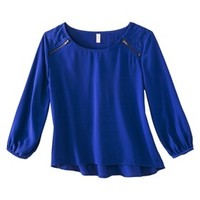 Xhilaration® Junior's Long Sleeve Quilted Top - Assorted Colors