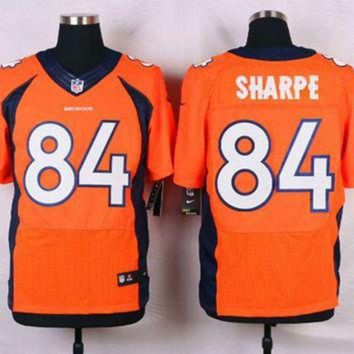 ICIKU3N Nike Broncos #84 Shannon Sharpe Orange Team Color Men's Stitched NFL Elite Jersey
