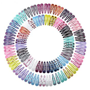 126Pcs Girls Hair Clip Barrettes Kids Children Hairpins Hair Clips Hairwear Cute Print Hairgrip Headwear Lovely Hair Accessories