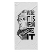 Hamilton and Jefferson Rivalry Beach Towel