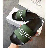 GIVENCHY PARIS Classic Women Men Comfortable Sandals Slipper Shoes Green