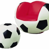 Crown Mark Soccer Chair/Ottoman:Amazon:Home & Kitchen