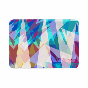 "Miranda Mol ""Triangle Party"" Multicolor Memory Foam Bath Mat"