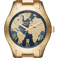 Women's MICHAEL Michael Kors 'Layton' Bracelet Watch, 44mm - Gold/ Navy