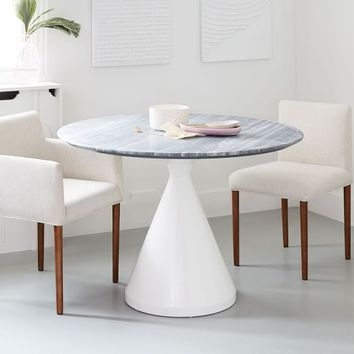 Silhouette Dining Table - Gray Marble