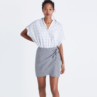 Gingham Side-Tie Skirt : | Madewell