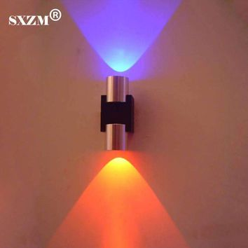 SXZM 2W LED Wall Light AC85-265V Sconce Decoration Fixture lamp with Scattering Light Aluminum Body Hall Porch Bulb