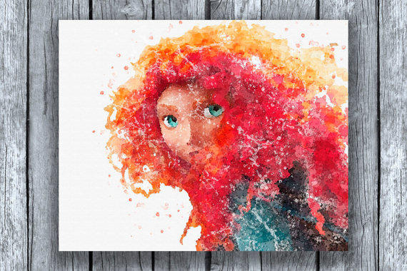 brave watercolor by bezawesome - photo #18