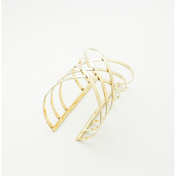 HATCHED Brass CUFF