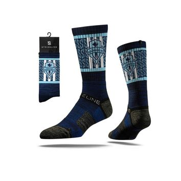 Strideline® 2.0 MLS Sounders FC Pacific Blue Crew Socks