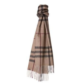 Burberry Smoked Trench Giant Check Cashmere Scarf