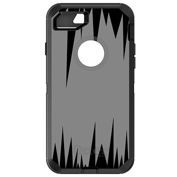 DistinctInk™ OtterBox Defender Series Case for Apple iPhone / Samsung Galaxy / Google Pixel - Grey Black Spikes