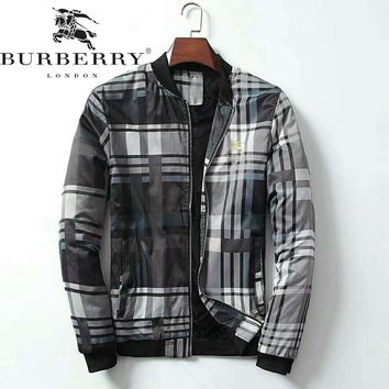 Burberry autumn and winter new high-end men's high-quality fashion zipper cardigan jacket
