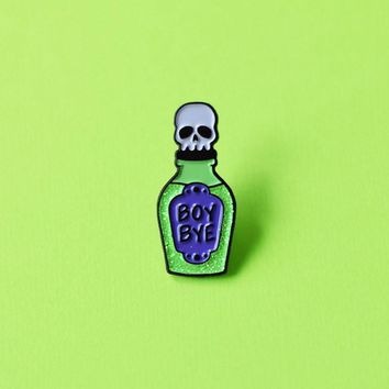 Boy Bye Poison Enamel Pin