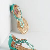 Sparkle of Genius Sandal in Aqua | Mod Retro Vintage Sandals | ModCloth.com