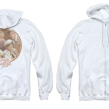 Andy Griffith Show Full Zip Hoodie Boys Club White Hoody Back Print