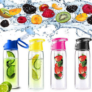Fruit Infusing Infuser 2015 Newest Water Sports Health Material Lemon Juice Bottle Fruit Creative Drink Cup ZHY1708