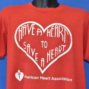 80s Have a Heart to Save a Heart t-shirt Extra Large