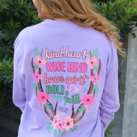 Jadelynn Brooke: Kind Heart, Wise Mind, Brave Spirit, Bold Faith L/S {Lavender}