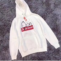 Supreme Fashion Snoopy Print Top Sweater Hoodie