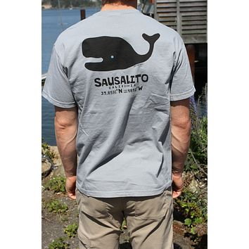 Sausalito Gummy Whale Men's Short Sleeve T Grey