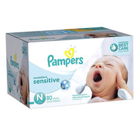 Pampers Swaddlers Sensitive Diaper Super Pk - Newbown - 80 Ct