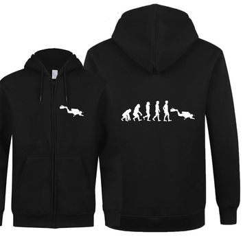 Scuba Diver Evolution Hoodie - Men's Sweatshirt
