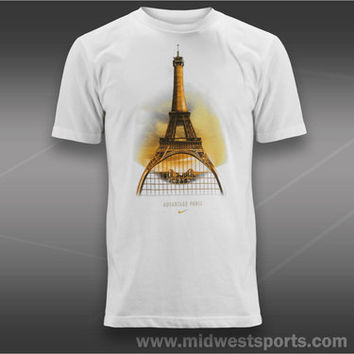 Nike Mens Tennis T-Shirt, Nike Advantage Paris T-Shirt 533800-100, Midwest Sport