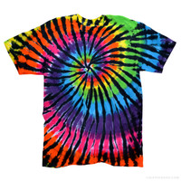 Onyx Rainbow Tie Dye T Shirt Rainbow on Sale for $14.95 at The Hippie Shop