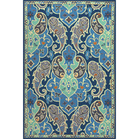 Jaipur Rugs IndoorOutdoor Floral Pattern Blue/Gray Polypropylene Area Rug BA61 (Rectangle)