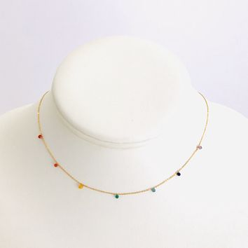 Love Of Color Dainty Gold Necklace